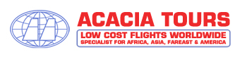 Acacia Tours, Low cost flights worldwide
